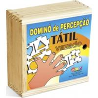 Dominó Percepção Tátil Carlu Brinquedos Colorido