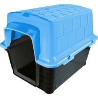 Casinha Plástica Retangular Para Pets 38X38Cm Azul