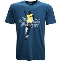Camisa Liga Retrô Vintage Comemoração - Masculino-Azul