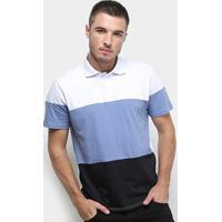 Camisa Polo Burn Modern Masculina - Masculino-Branco