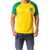 Camiseta Braziline Manga Curta Brasil Tapajós Ragl - Masculino