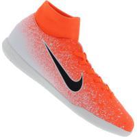 Chuteira Futsal Nike Mercurial Superfly X 6 Club Ic - Adulto - Laranja/Branco