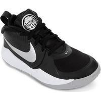 Tênis Infantil Nike Team Hustle D 9 Gs - Unissex-Preto+Prata