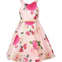Vestido Juvenil Cattai Rosa Floral