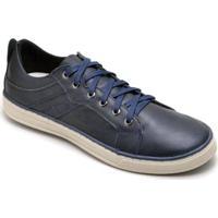 Sapatênis D&R Shoes Em Couro Masculino - Masculino-Azul