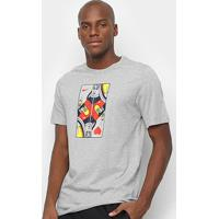 Camiseta Nike Queen Card Masculina - Masculino-Mescla Claro