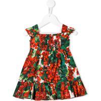 Dolce & Gabbana Kids Vestido Portofino Com Estampa - Vermelho