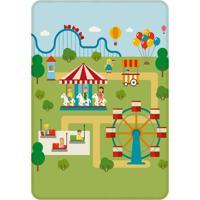 Tapete Love Decor De Atividades Infantil Parque De Diversão 125X90Cm