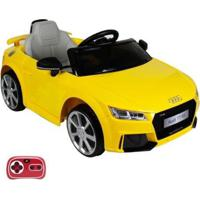 Carrinho Elétrico Infantil Audi Tt Rs 12V Com Controle Remoto Belfix Amarelo - Unissex-Amarelo
