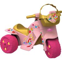 Moto Princesas Disney Elétrica 6V Bandeirante Rosa