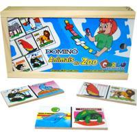 Dominó Animais Do Zoo Carlu Brinquedos Colorido