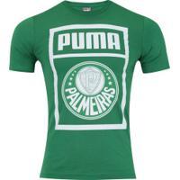 Camiseta Do Palmeiras Graphic 2019 Puma - Masculina - Verde/Branco