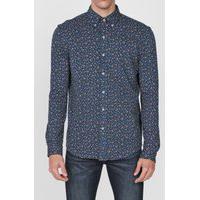 Camisa Polo Ralph Lauren Reta Floral Azul-Marinho