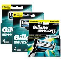 Kit Gillette Com 10 Cargas Mach3 Regular