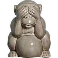 Estátua Decorativa Macaco Não Vejo Fendi