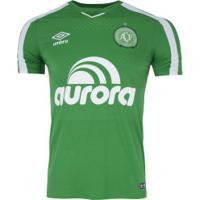 Camisa Da Chapecoense I 2019 Umbro - Masculina - Verde/Branco