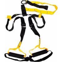 Fita Suspensão Liveup Trx Treinamento Suspenso Profissional Pilates - Unissex-Preto
