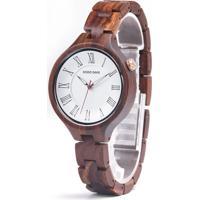 Relógio Madeira Dododeer-A09 Branco - Feminino