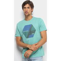 Camiseta Hd Color Block Masculina - Masculino-Verde