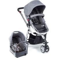 Carrinho De Bebê Travel System Mobi Safety1St Grey Denim