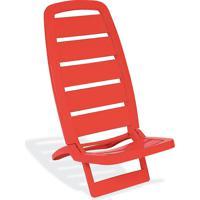 Cadeira Guarujá De Praia Vermelho Basic - Tramontina