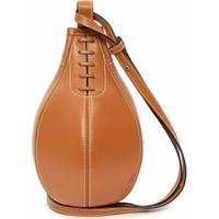Jw Anderson Small Punch Crossbody Bag - Marrom