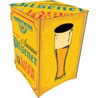 Banco Organizador Cerveja- Amarelo & Azul- 45X30X30Ccia Laser
