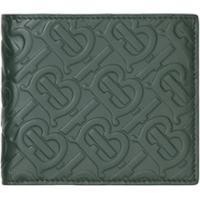 Burberry Carteira Com Monograma Gravado - Verde