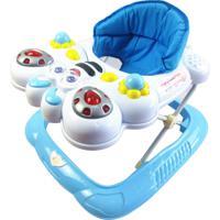 Andador Bebê Infantil Musical Recreativo Baby Style Abelha Azul