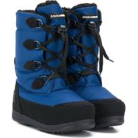 Dolce & Gabbana Kids Bota Para Neve - Azul