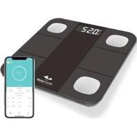 Balança Digital Relaxmedic Smart Bioimpedancia App Bluetooth - Unissex-Preto