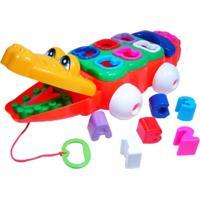 Brinquedo Calesita Jacaré Didático Multicolorido