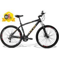 Bicicleta Gts Obstaculo 1.0 Aro 29 Freio Disco Câmbio Traseiro Shimano 24 Marchas E Amortecedor - Unissex