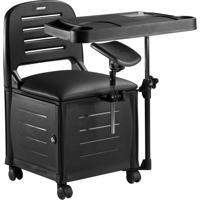 Cadeira Manicure E Esmalteria Dompel Veneza Completa Preta