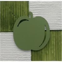 Quadro Artesanal Com Aplique Maçã 30X30 Verde Uniart