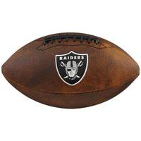 Bola De Futebol Americano Wilson Nfl Team Jr. Marrom - Oakland Raiders - Unico Incolor