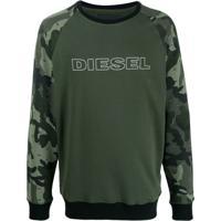 Diesel Moletom Com Estampa De Logo - Verde