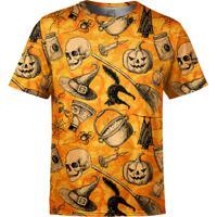 Camiseta Estampada Over Fame Halloween Laranja