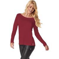 Blusa Lisa Com Tiras- Vermelho Escuro- Vestemvestem