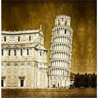 Quadro Impressão Digital Torre De Pisa 30X30