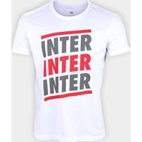 Camiseta Internacional Listras Retrô Mania Masculina - Masculino-Branco