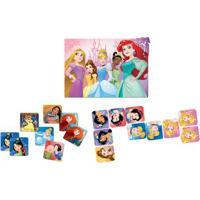 Super Kit - Quebra-Cabeça - Dominó E Jogo Da Memória - Disney - Disney Princesas - Toyster