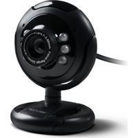 Webcam Multilaser Plug E Play 16Mp Nightvision Microfone Usb Preto - Wc045 - Padrão