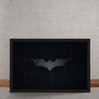 Quadro Decorativo Batman Logo Mural Minimalista Chapiscado Dc Comics 25X35