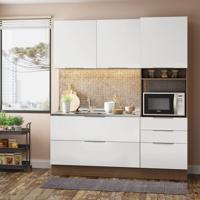 Cozinha Compacta Stella Smile 5 Pt 3 Gv Rustic E Branco
