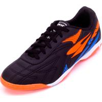 Chuteira Futsal Dray 362Co Preto-Laranja