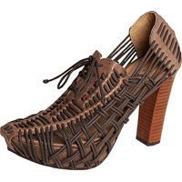 Sapato Nica Kessler Corda Marrom