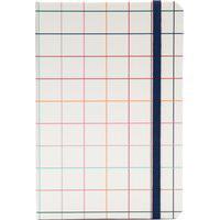 Caderneta Esquema Sem Pauta Quadriculado - Off White