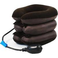 Massageador Inflável Pneumático Relaxamento Tração Cervical Pescoço Tamanho Universal - Unissex-Marrom