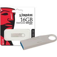 Pen Drive Usb 3.0 Kingston Dtse9G2/16Gb Datatraveler Se9 G2 16Gb Prata